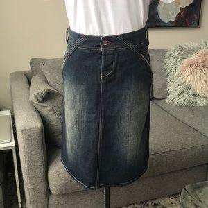 Vintage Denim Gsus Skirt